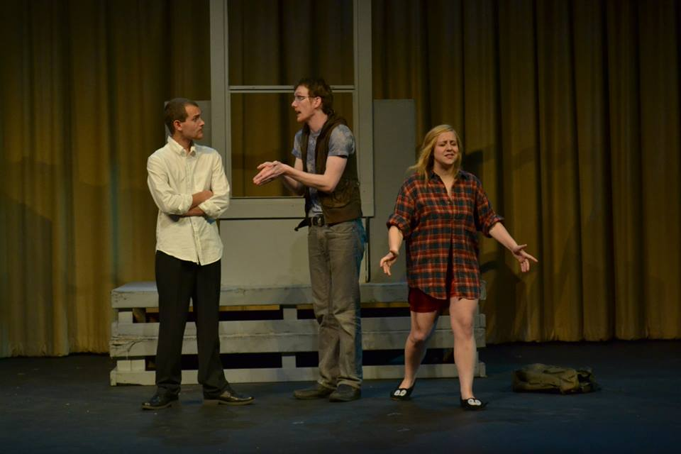 Reed Cook as Daniel, Noelle Low as Heather, and Ryan Stoll as Eli. Photo Credit; Elizabeth Oltman