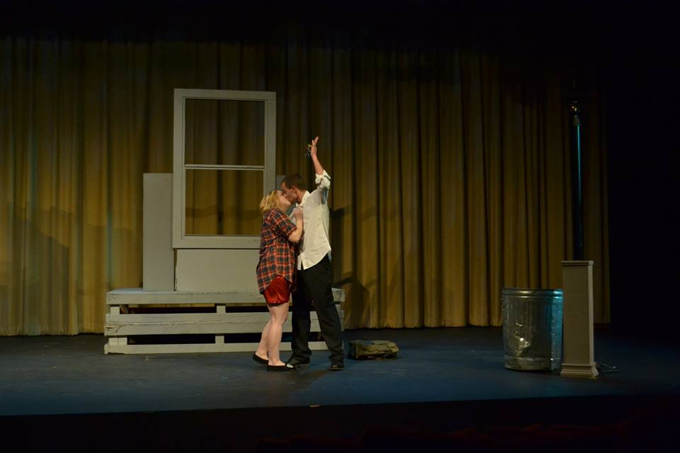 Reed Cook as Daniel and Noelle Low as Heather. Photo Credit; Elizabeth Oltman